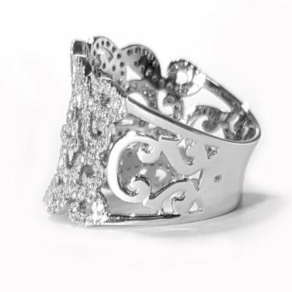 Bague diamants or blanc Réf. 1227