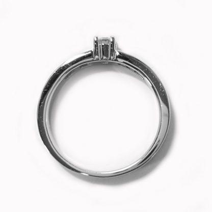 Solitaire diamant  or blanc Réf. 356
