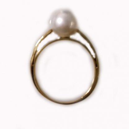 Bague Perle blanche or jaune Réf.539