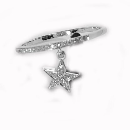 Bague étoile diamants or blanc Réf. 1230