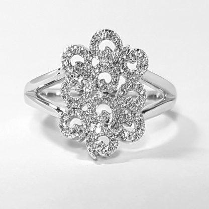 Bague diamants or blanc f. 1228
