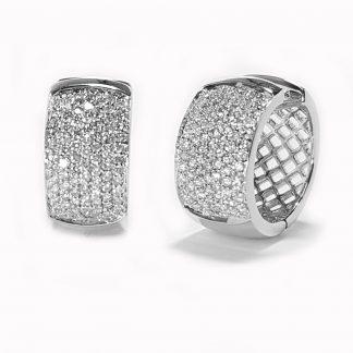 Boucles d'oreilles diamants or blanc réf. 1266