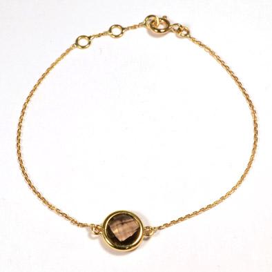 Bracelet Quartz fumé or jaune réf. 1333
