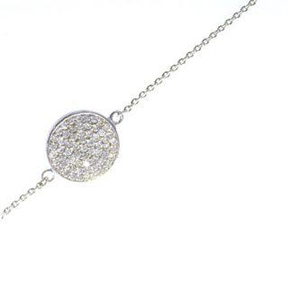 Bracelet rond diamants or blanc réf. 1081