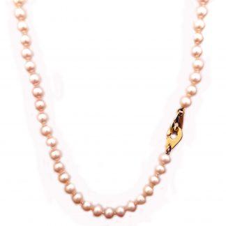 Collier perles eau douce or jaune réf. 832