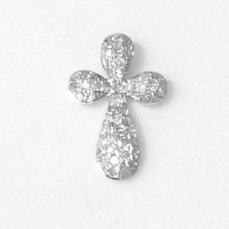 Croix or blanc et diamants réf. 1210